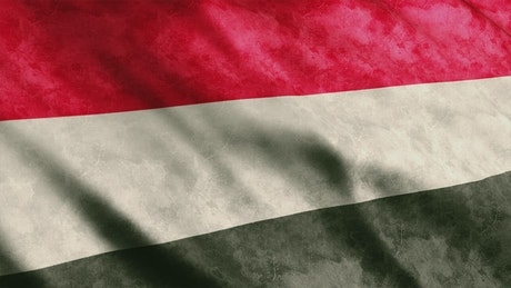 Flag of the country of Yemen in Asia