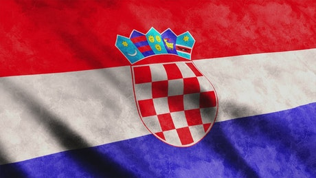 Flag of the European country of Croatia