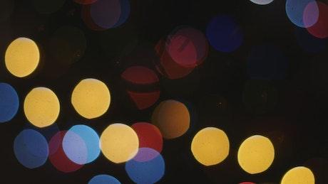 Flashing Bokeh lights