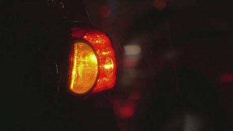 Flashing lights on a broken car