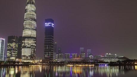 Flashing skyscraper in Shenzhen