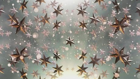 Floating award stars, loop video