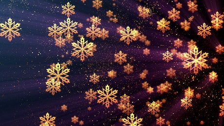 Floating Christmas Gold Snowflakes