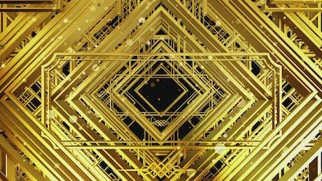 Floating golden figures, Awards title video