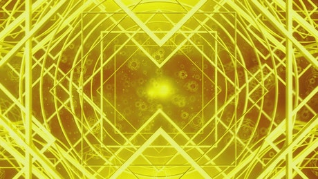 Floating rotating golden frames