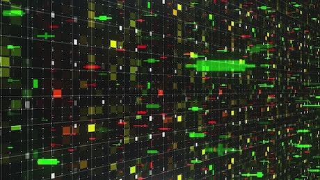 Floating stock market indicators concept, 3D