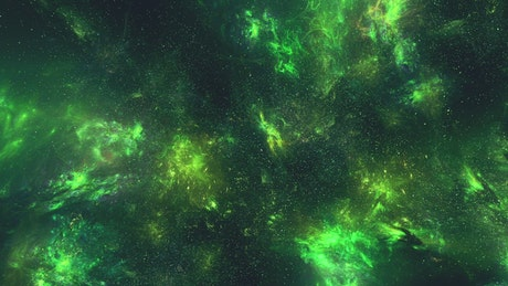 Fluorescent nebulae floating in space
