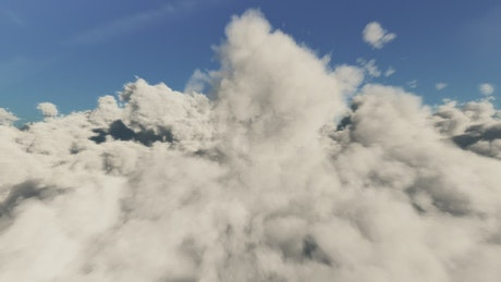 Flying above the clouds, time-lapse