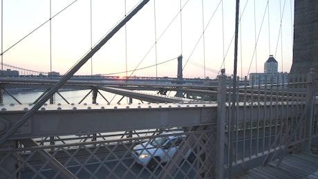 Flying across the Brooklyn Bridge