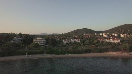 Flying along Trikorfo beach