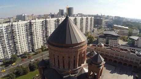 Flying around an Orthodox Church