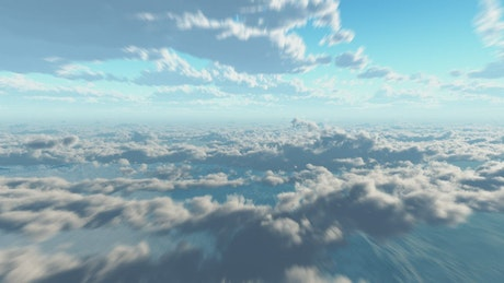 Flying between cloud layers, time-lapse