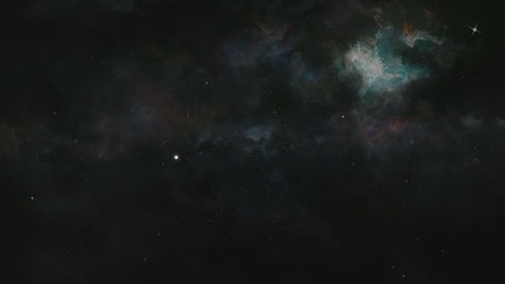 Flying in the space between stars and nebulae