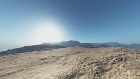 Flying low through the Egyptian desert