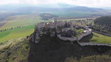 Flying over our historic medieval Castle
