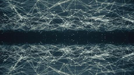 Flying through a virtual information neural network