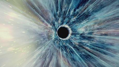 Flying through a wormhole