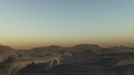 Flying through the desert stone in Egypt