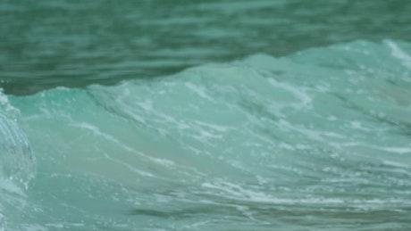 Foamy waves crashing