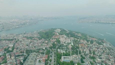 Fog across Istanbul