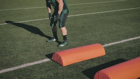 Football player training