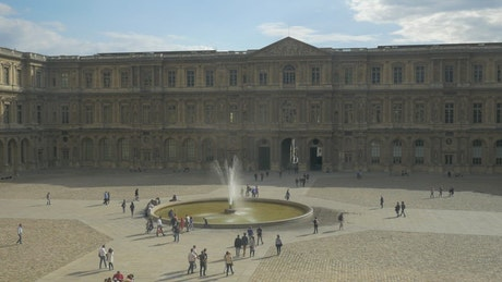 Fountain by the Louvre