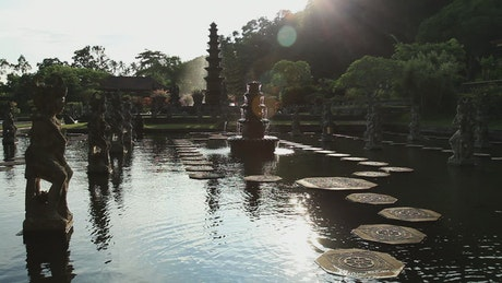 Fountain in a temple in Indonesia