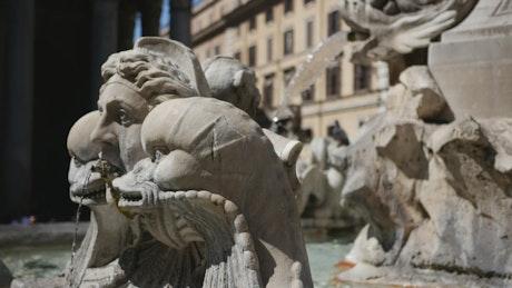 Fountain in Rome closeup