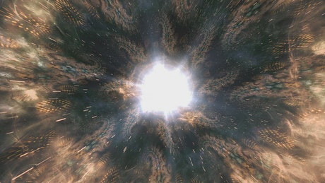 Fractal abstract starry space, 3D
