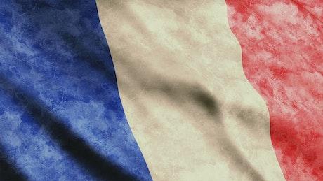 France worn flag