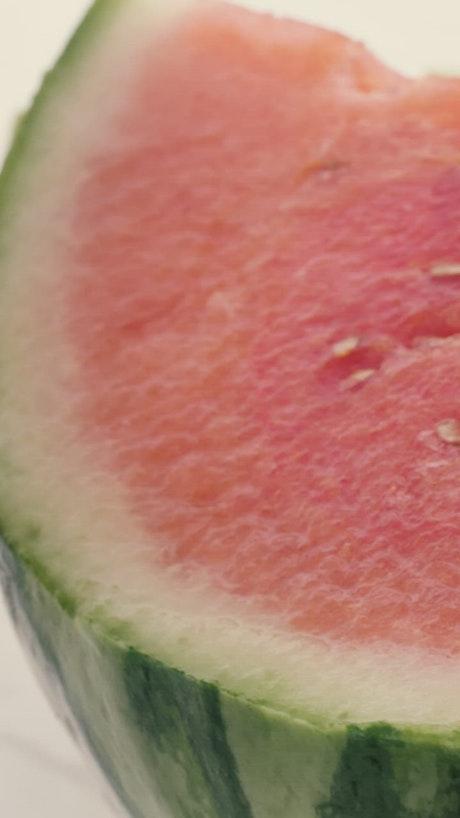Fresh watermelon cut into parts