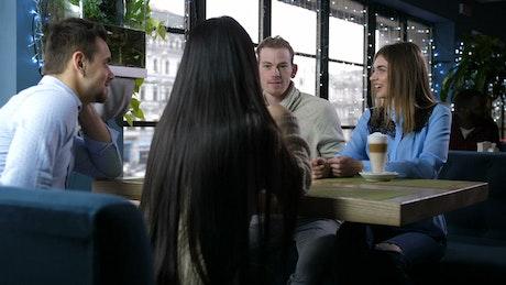 Friends enjoying an afternoon coffee