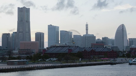 From day to night in Yokohama city