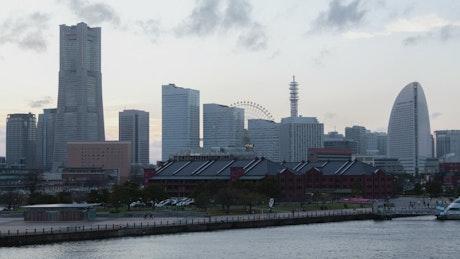 From day to night in Yokohama city