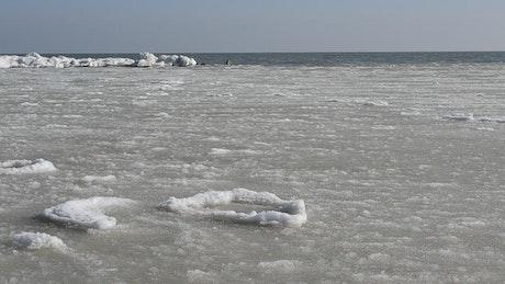 Frozen ocean waves