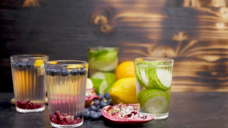 Fruit drinks with whole fruit