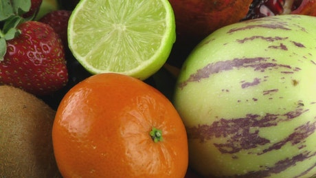 Frutas con concepto publicitario