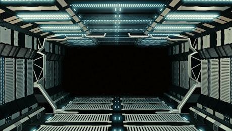 Futuristic corridor, loop video