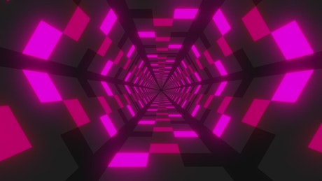Futuristic hexagonal tunnel with walls