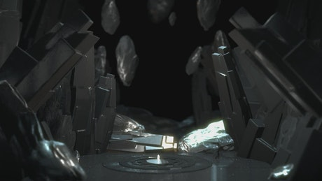 Futuristic or alien virtual cave