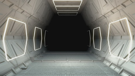 Futuristic ship tunnel