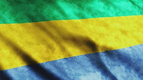 Gabon flags, close up