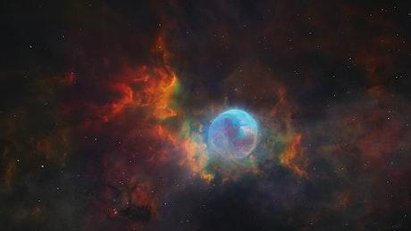 Galactic nebula is seen in detail