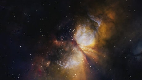 Galaxies and nebulae in space