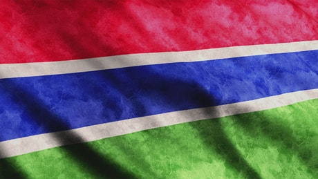 Gambia Flag, African country