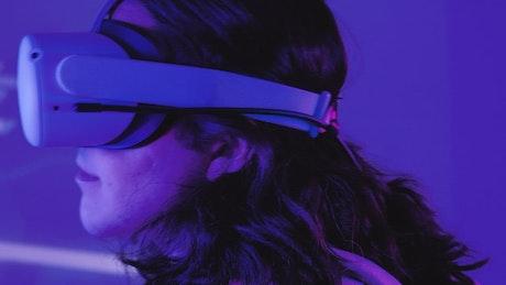 Gamer boy trying on some VR glasses