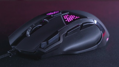 Gaming mouse close up