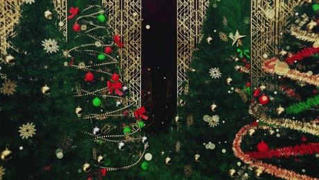 Gatsby style Christmas trees, 3D loop video