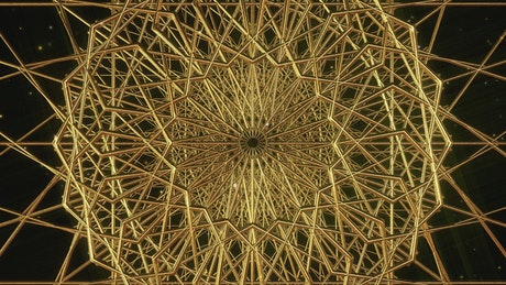 Geometric figures of golden metallic nets