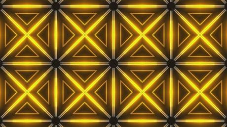 Geometric neon lights surface